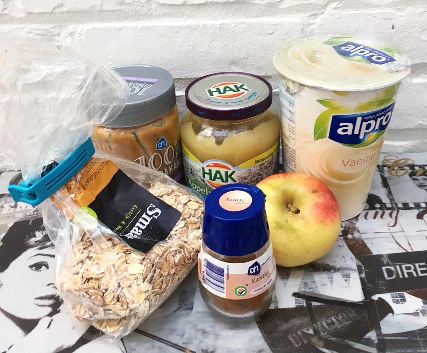 apple pie overnight oats ingredients