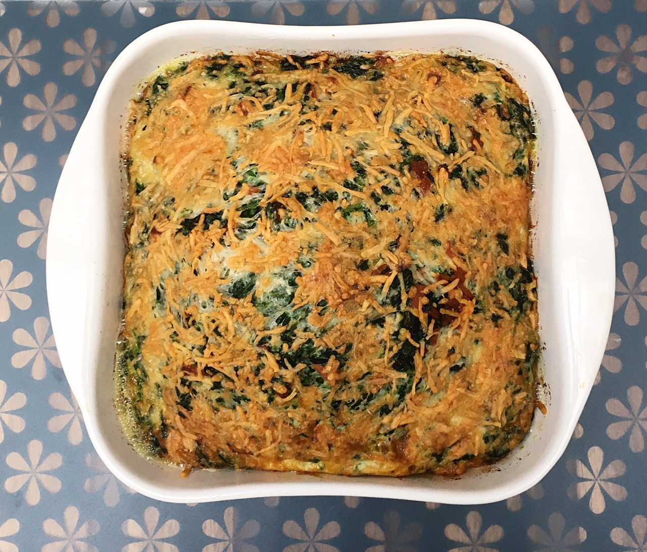 egg bake spinach